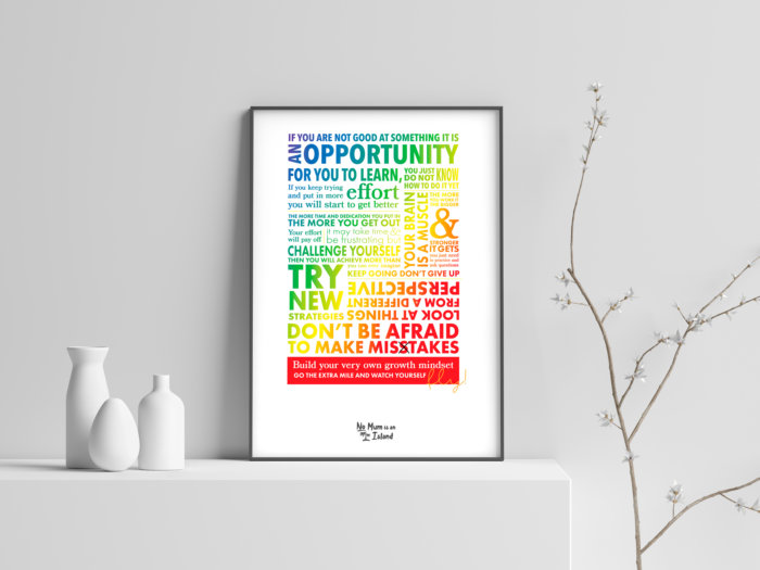 inspirational art - growth mindset
