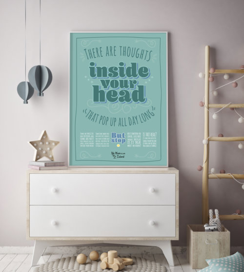 Thoughts typographic art