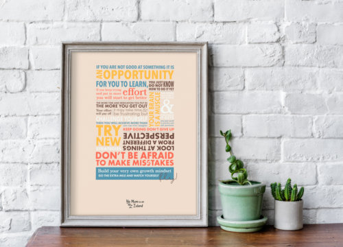 typography growth mindset